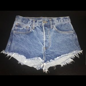 High waisted Brandy Melville cutoff denim shorts